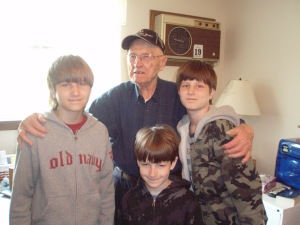 The boys and Great Grandpa