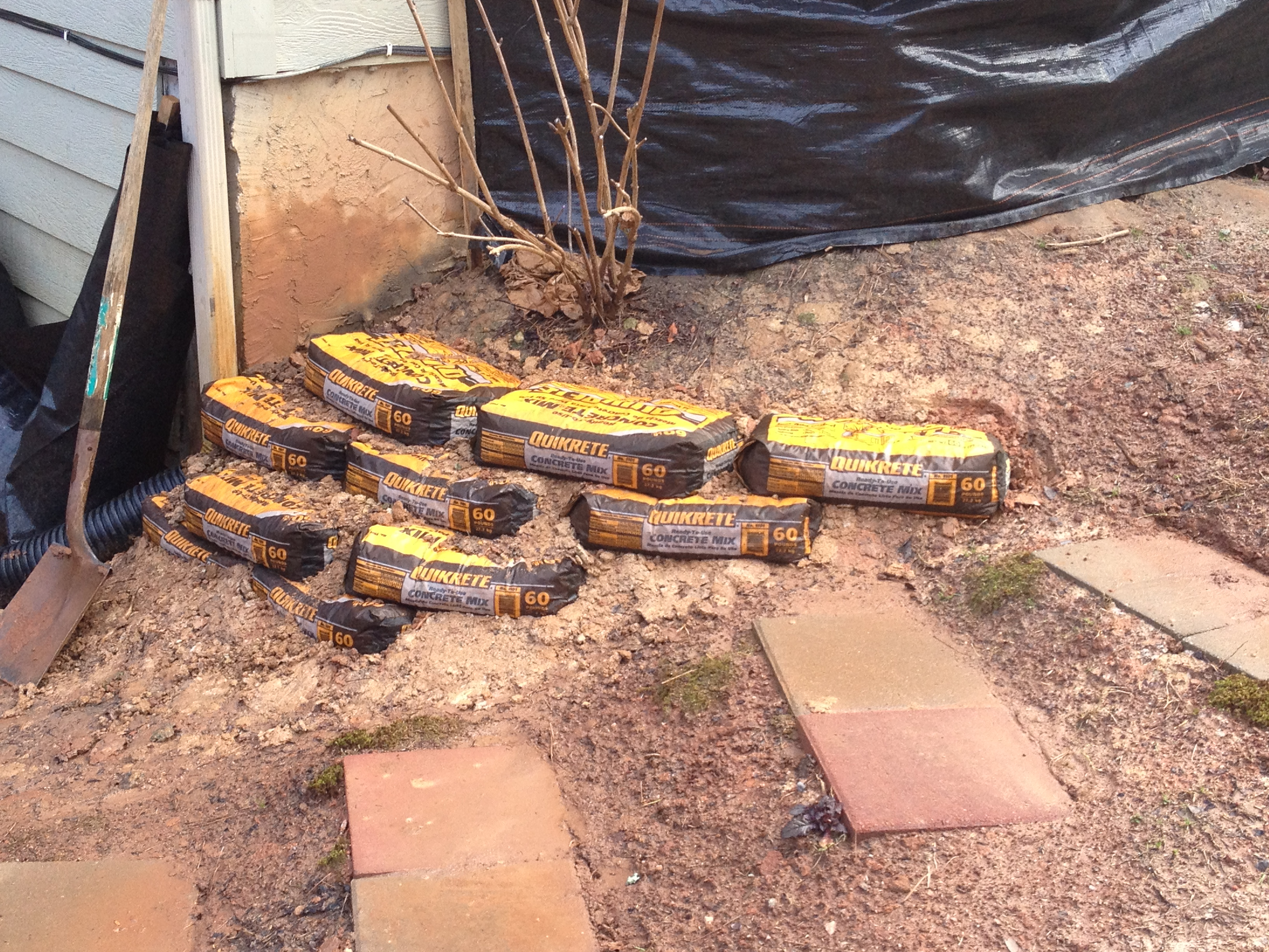 cement bag retaining wall | Bugs, Boys and Burritos
