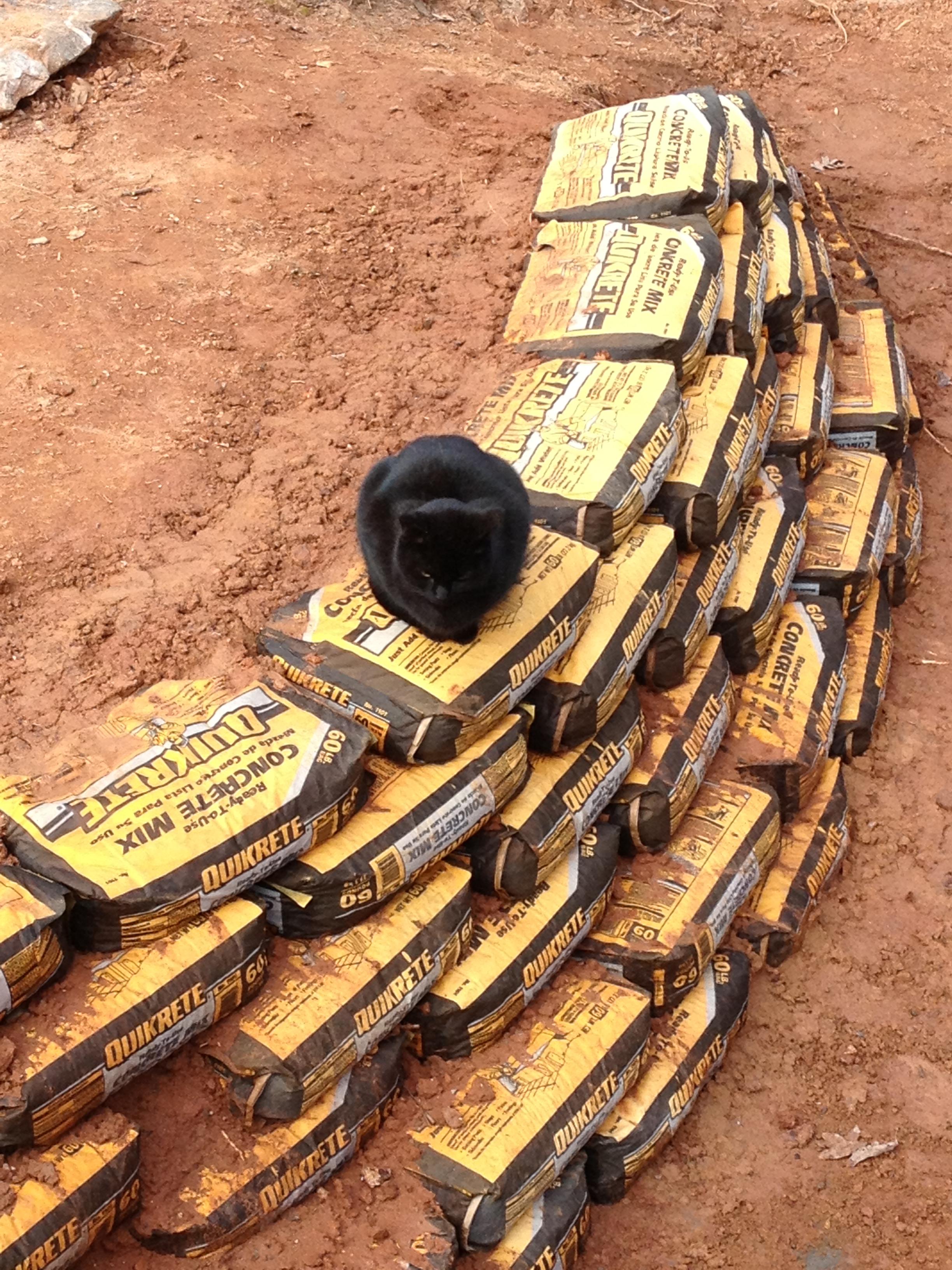 Cement Bag Retaining Wall Bugs Boys And Burritos