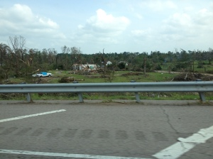 Some of the devastation we saw from the road in Oklahoma.